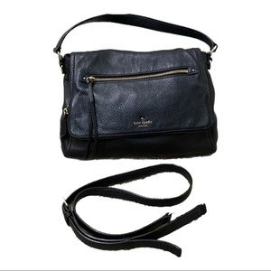 Kate Spade Black Front Flap Shoulder Bag